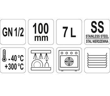 cumpără Recipient din oțel inoxidabil perforat GN 1/2 100 în Chișinău