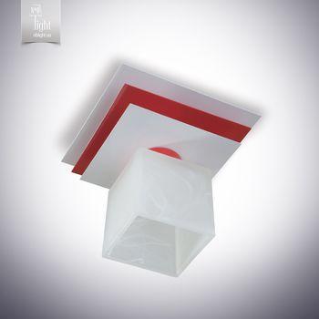 N&B Light Люстра Пиастра 10111-1 белый глянец/красный глянец