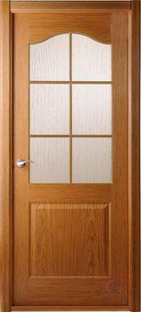 Дверь КАПРИЧЕЗА дуб-радиал остекленная