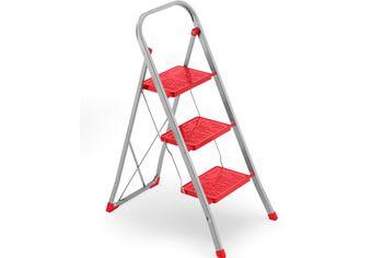 Стремянка Framar Slimmy-3 (h70/290cm), 150kg, красная/с
