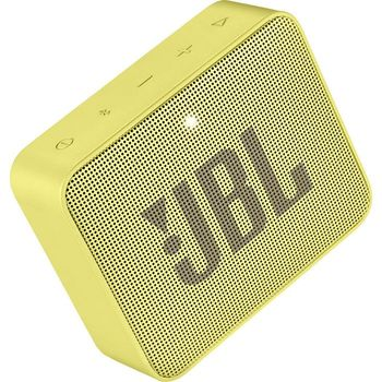 JBL Go 2 Yellow / Bluetooth Portable Speaker, 3W (1x3W) RMS, BT Type 4.1, Frequency response: 180Hz – 20kHz, IPX7 Waterproof, Speakerphone, 730mAh rechargeable Lithium-ion battery,  3.5 mm jack audio input, Battery life (up to) 5 hr