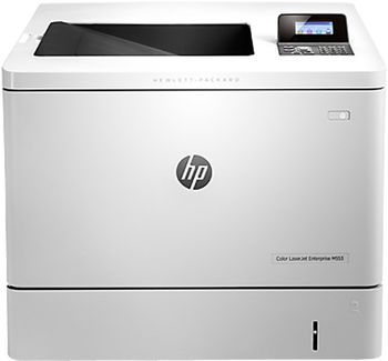 HP Color LaserJet Pro M553dn Printer, Up to 38ppm, Duplex, 1200x1200 dpi, Up to 80000 p., 1GB DRAM, 4 line LCD display,  PCL 5c/6, Postscript 3, USB 2.0, Ethernet 10/100Base-TX, HP ePrint, Apple AirPrint™, White