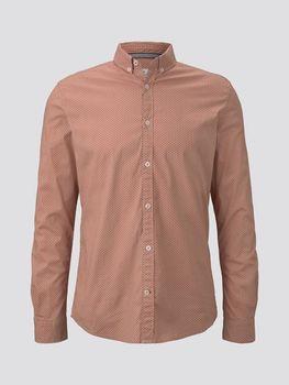 Рубашка TOM TAILOR Розовый с принтом