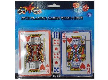 cumpără Set carti de joc 2seturi 54buc 6 zaruri în Chișinău
