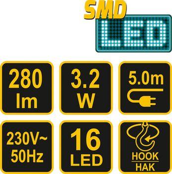 купить Лампа проводная SMD LED 3,2W в Кишинёве