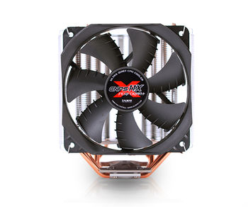 """ZALMAN Cooler  """"CNPS11X PERFORMA+"""", Socket 775/1150/1151/2011 & FM2/FM1/AM3+, up to 130W, 120х120х25mm, 1000~1600rpm, 17~26 dBA, 4 pin, PWM, V-Shaped Dual Heatsinks, Long Life Bearing, 4 heatpipes direct contact, included Thermal Grease (ZM-STG2M)"""