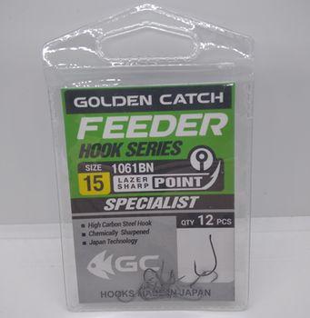 Крючки Golden Catch Feeder Nr15, 12шт