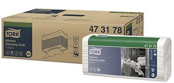 Tork нетканый материал для кухни, W4, 38.5*42.8, 85/5, Белый, Premium