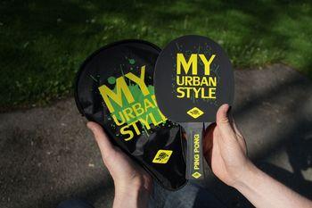 Ракетка для настольного тенниса 1.2 мм + чехол + 3 мяча Donic My Urban Style 788485 (4332)