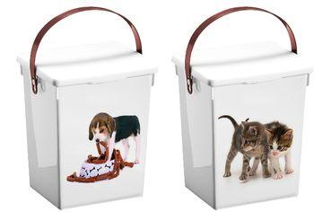 купить Коробка для хранения корма для животных 5l, пластик в Кишинёве