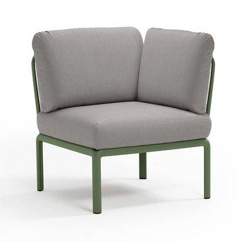 Кресло модуль угловой с подушками Nardi KOMODO ELEMENTO ANGOLO AGAVE-grigio 40374.16.163