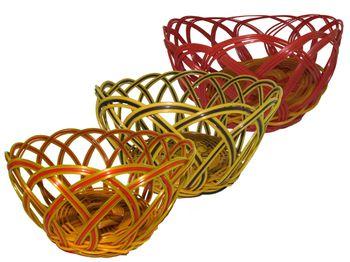 Хлебница плетеная двухцветная 18X9cm