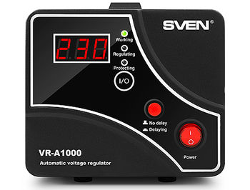 SVEN Automatic Voltage Regulator VR-A1000, 1000VA/600W, Input 140~275V, Output 230V -14/+10%, 1 socket (stabilizator de tensiune/стабилизатор напряжения)