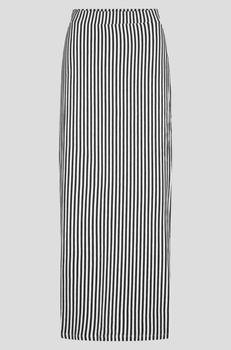 Юбка ORSAY Белый в черную полоску 744052