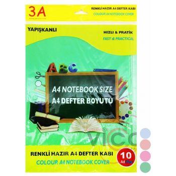 Обложкa для книг A4 10 штук 3A синий