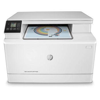 HP Color LaserJet Pro M182n Color Printer/Color Copier/Color Scanner, White, A4, Up to 16 ppm, 256MB RAM, 600x600 dpi, Up to 30000 p., Two-line LCD display, PCL 5c/6, Postscript 3, USB 2.0, Gigabit Ethernet, ePrint,  Mopria™(HP 216A B/C/Y/M)