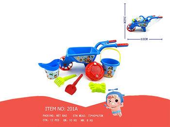 Набор игрушек для песка в синей тележке, 7 ед, 60X26cm