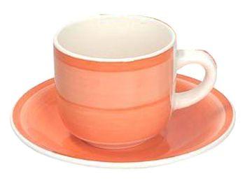Cana pentru ceai 220ml cu farfurie Gypsy Orange