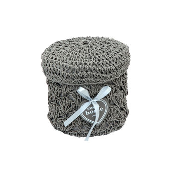 купить Круглая корзина из текстиля 160x150 мм, серый в Кишинёве