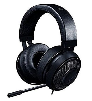 RAZER Kraken Pro V2 (Black) /  Analog Gaming Headset, Passive Noise-cancelling retractable Microphone, Circular Ear Cushions, in-line Remote, Cross-platform compatibility (Mobile/PC/Xbox/PS4), 1.3+2 m detachable cables, 3.5 mm combined jack