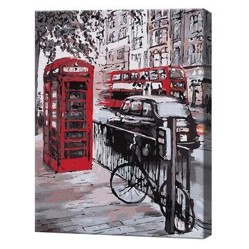 Красная будка в Лондоне, 40х50 см, картина по номерам Артукул: GX35805