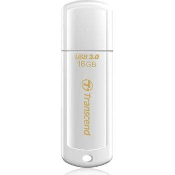 Transcend JetFlash 730 16GB Glossy White,USB 3.0 (Read 70mb/s; Write 20mb/s)
