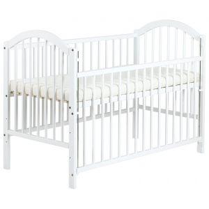Кроватка Ewelina I с опускающейся стенкой, белая, код 41977