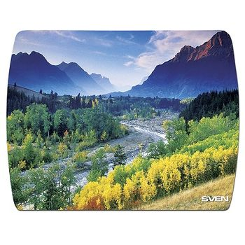 SVEN UA (8 pictures), Mouse pad, Dimensions: 230 x 180 x 2.35mm, Material: 100% poliester + polyurethane, Special antibacterial coating protecting, Special slip-proof base, Black