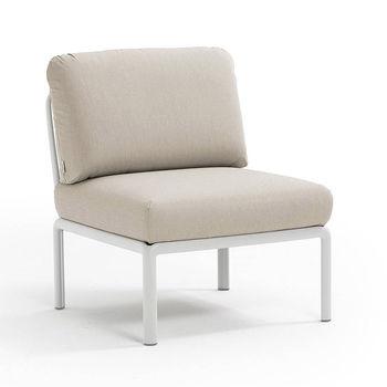 Кресло модуль центральный с подушками c водоотталкивающей тканью Nardi KOMODO ELEMENTO CENTRALE BIANCO-TECH panama 40373.00.131