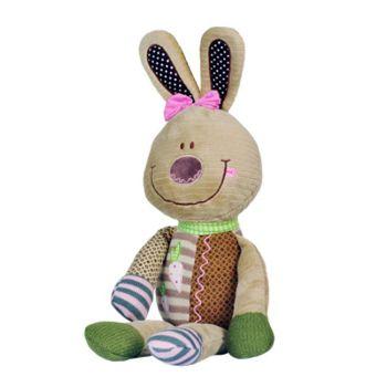 """BabyOno Игрушка велюровая с погремушкой """"Кролик"""" (45 cm)"""