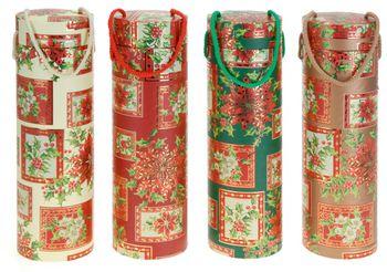"""Тубус рождественский """"орнамент"""" для бутылки"""