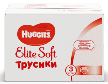 купить Трусики Huggies Elite Soft Pants  BOX  3  (6-11 kg)  (54x2)x1 в Кишинёве