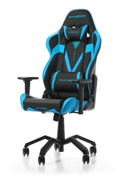 Gaming Chairs DXRacer - Valkyrie GC-V03-NB-B2, Black/Blue/Black - PU leather, Gamer weight up to 115kg/growth 165-195cm, Foam Density 50kg/m3, 5-star  Aluminium Spider, Gas Lift 4 Class, Recline 90*-135*, Armrests:4D, Pillow-2, Caster-3*PU, W-21kg
