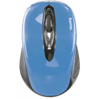 "Hama 86566 ""AM-7300"" Wireless Optical Mouse, black/sky-blue"