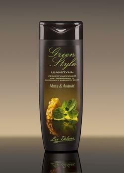 купить Себорегулирующий шампунь «Мята&Ананас» для нормальных и склонных к жирности волос Green style в Кишинёве