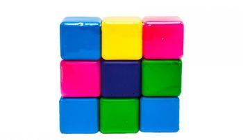 Кубики цветные (9 шт.) (605)