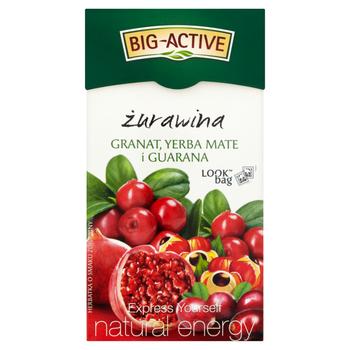 купить Чай фруктовый Big Active Cranberry, Pomegranate, Yerba Mate & Guarana, 20 шт в Кишинёве