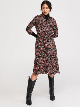 Платье RESERVED Черный в цветочек yl531-mlc