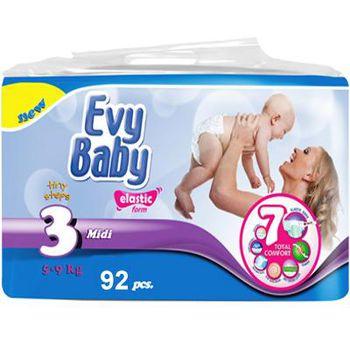 Evy Baby подгузники Jumbo 3 (5-9 кг) (92 шт.)