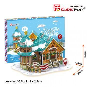 "CubicFun 3D пазл "" Рождественский домик 3"""