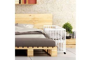 Кроватка приставная Piccolo 90x45 Duo, белая, код 41983