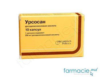 купить Урсосан капс.250 мг N10 в Кишинёве