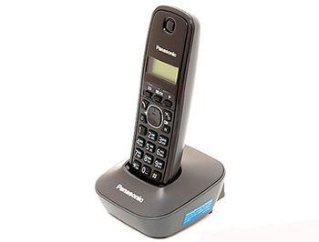 Dect Panasonic KX-TG1611UAH, Grey, AOH, Caller ID (telefon fara fir DECT/ DECT телефон)