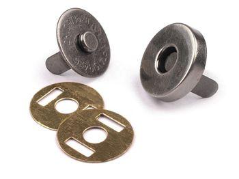 Capse magnetice, nichel antic, Ø14 mm
