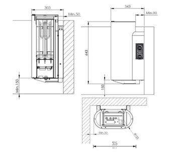 Электропечь для сауны навесная - Tulikivi ROUTA