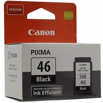 Ink Cartridge Canon PG-46, 15ml black for PIXMA E404,464,484 & iP1600,2200 & MP150,170,450