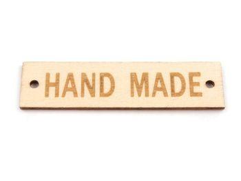 Etichetă din lemn Handmade