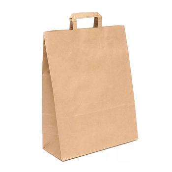 Бумажные крафт пакеты 18*9*23 см