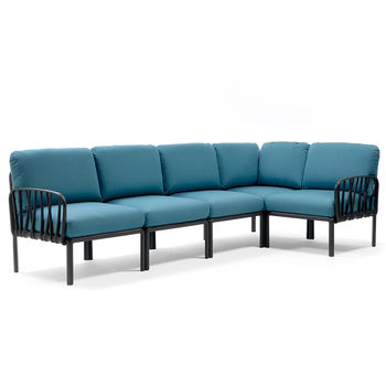 Диван с подушками Nardi KOMODO 5 ANTRACITE-adriatic Sunbrella 40370.02.142 (Диван с подушками для сада и терас)