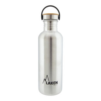 купить Бутылка Laken Basic Steel Bottle, Bamboo Cap, 1.0 L, BSB100 в Кишинёве